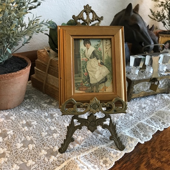 vintage picture with easel